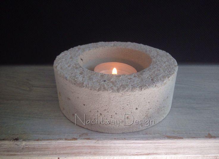 Beton Candlestick Teelichthalter concrete industrial Kerzenständern Deko Modern minimalistic shabby chic Kerzenhalter candle von BetonDesignGER auf Etsy