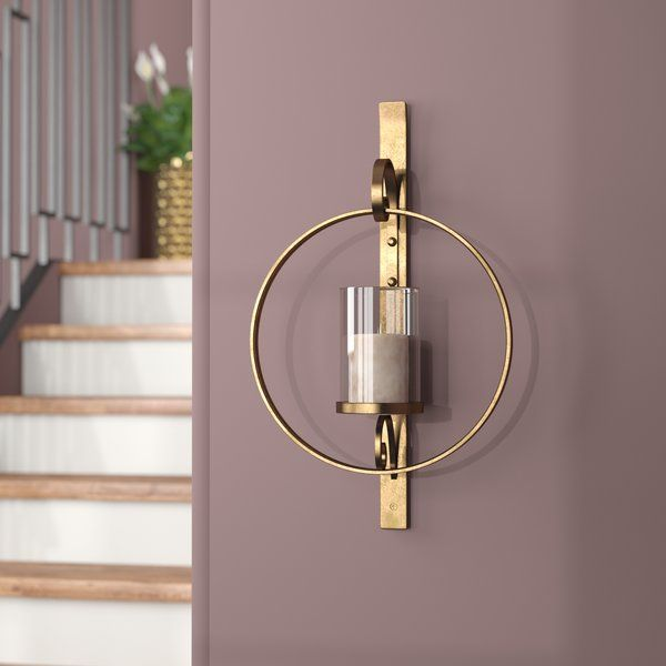 Add A Tasteful Touch Of Glamour To Any Space In Your Home With This Stylish Sconce Crafted From Meta Candle Sconces Living Room Glass Wall Sconce Wall Candles