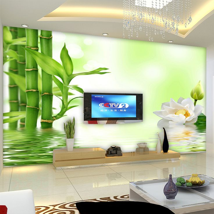 Cheap tv background, Buy Quality mural wallpaper directly from China large mural Suppliers: can be customized art wall stickers large Mural wallpaper bamboo 3d three-dimensional  tv background wall sitting room bedroom