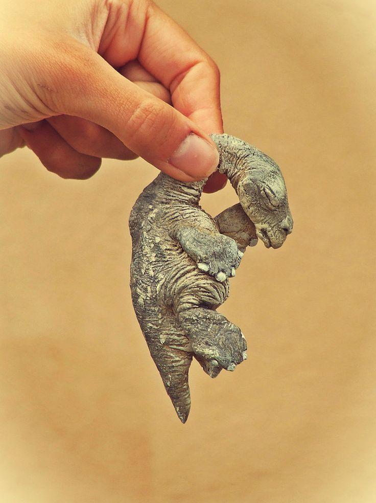 Pequeño bebé dragón acuático. Criatura del Museo de Ciencias Naturales de La MAthomería, de Tomàs Barceló.