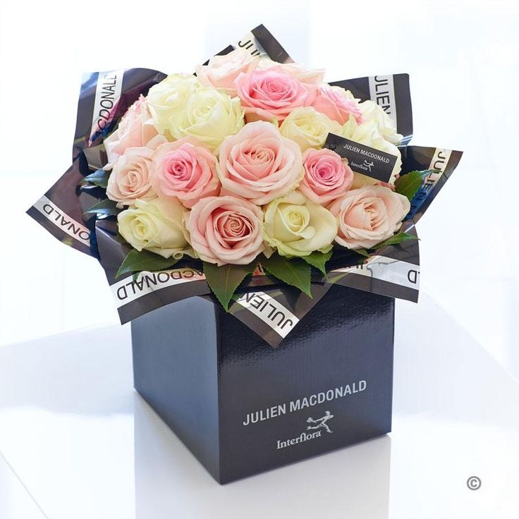 Captivating, romantic, irresistible – this gorgeous bouquet shows how breathtakingly beautiful fresh flowers can reflect an individual or a mood just perfectly. This bouquet is a harmonious selection of premium quality roses in soft pinks and pristine white – expertly hand-tied for optimum impact.