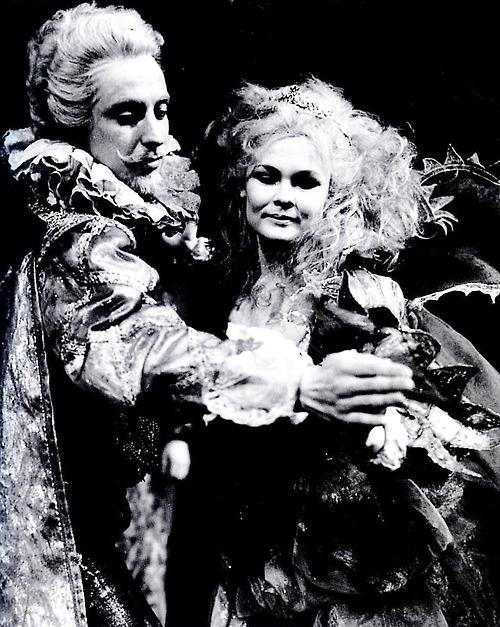 "1962 - Judi Dench and Ian Richardson as Titania and Oberon ""A Midsummer Night's Dream"" RSC. Design by Lila de Nobili"