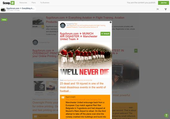flygcforum.com ✈ MUNICH AIR DISASTER ✈ Manchester United Football Team ✈