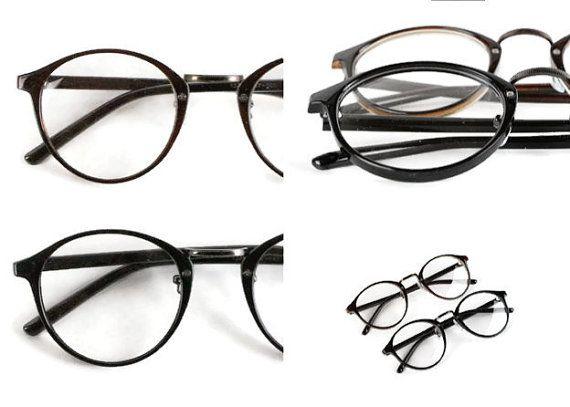 Schwarz runde Brille Panto Johnny Depp Style von ClassicalSense