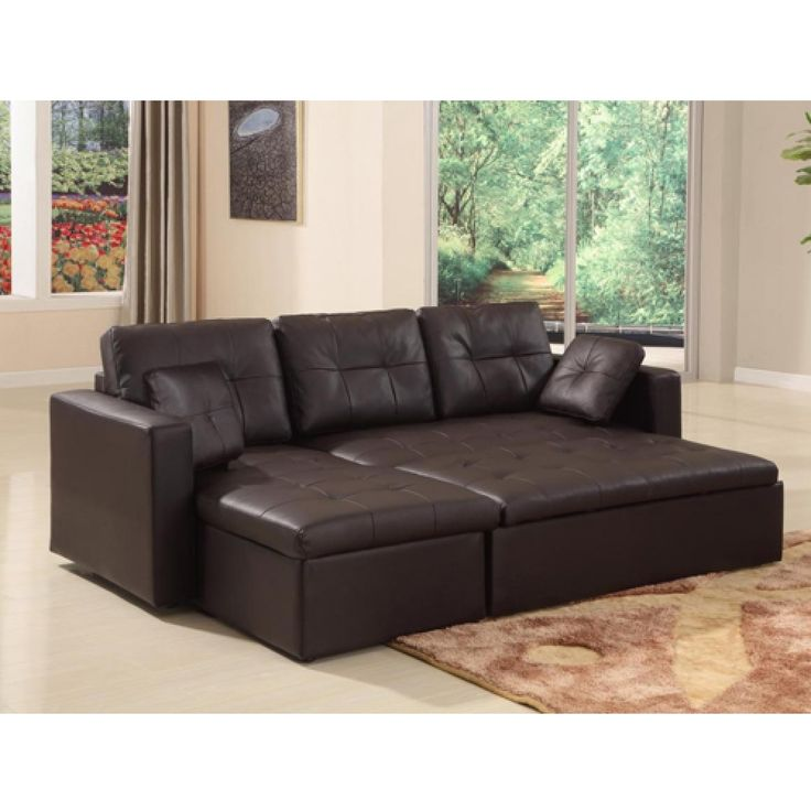 Marvelous Mood Leather Corner Sofa   With Sofa Bed   With Storage   Black Or Brown  Colours Available   Reversible Hand Photo