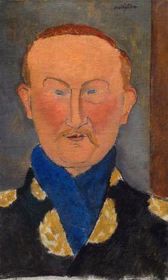 Amedeo Modigliani (Italian, 1884-1920), Portrait of Léon Bakst, 1917.