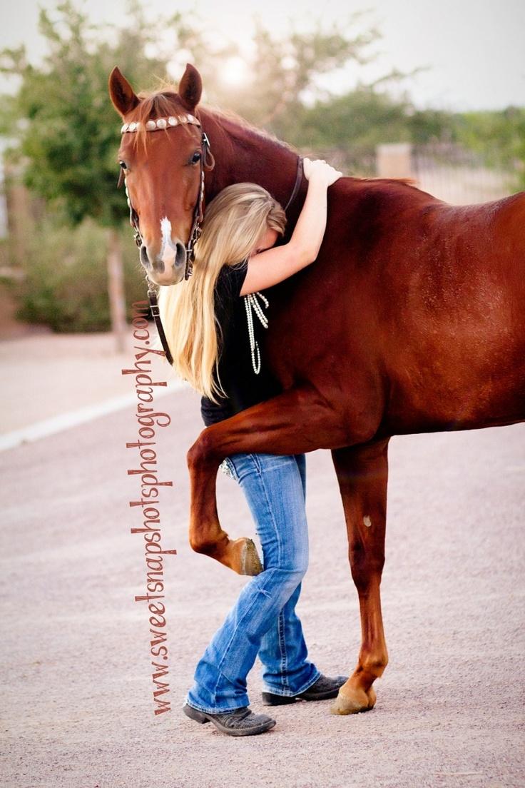 Horse Hug Photo (Sweet Snapshots Photography)-awww he's hugging her!