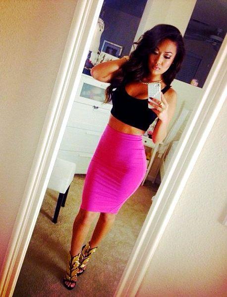 Pink Black Skirt 23