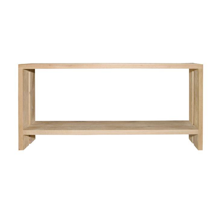 server solid raw oak 'u' frame with shelf