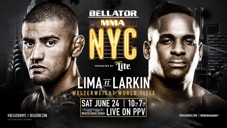 #ICYMI the #LimavsLarkin #fight at #BellatorNYC on Saturday went five rounds before #DouglasLima @phenomlima was declared the winner by unanimous decision retaining his #welterweight title. It was an upset for #UFC defector Larkin who was looking for a dramatic #Bellator debut but something tells me this won't set him back for long!  #Bellator180 #BellatorMMA #SonnenvsSilva #SilvavsSonnen #FedorvsMitrione #MitrionevsFedor #MMA #MixedMartialArts #MLMMA #MustLoveMMA #SusanCingari #MartialArts…
