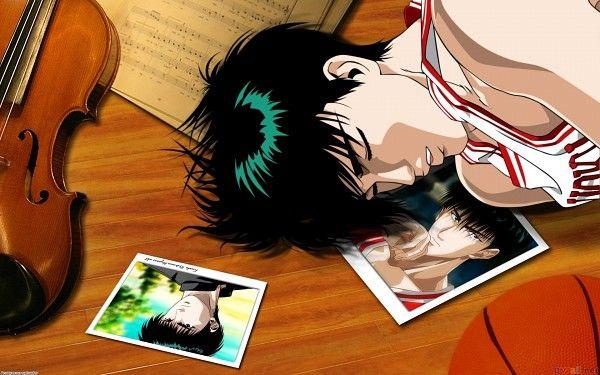 Tags: Anime, Slam Dunk, Rukawa Kaede, Basketball Ball, Photo (Object), Violin, Music Note