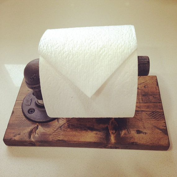 Industrial/Modern Toilet Paper Holder by Lulight on Etsy