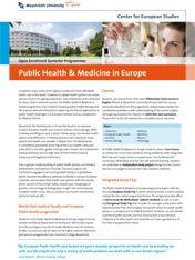 Public Health & Medicine in Europe