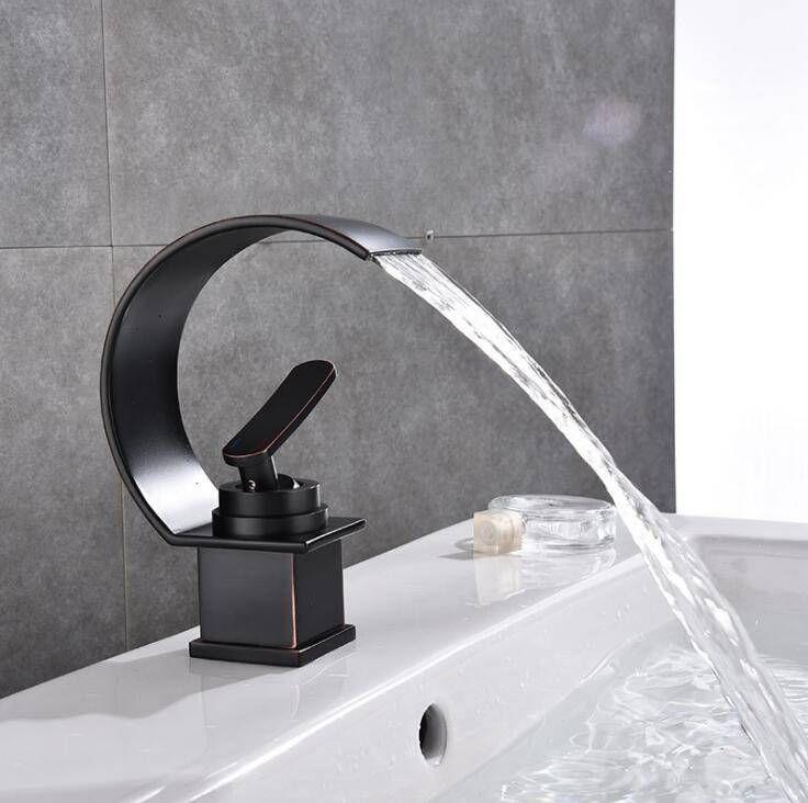 waterfall bathroom faucet single handle