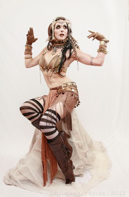 Apsara tribal fusion bellydance - I love stripey socks