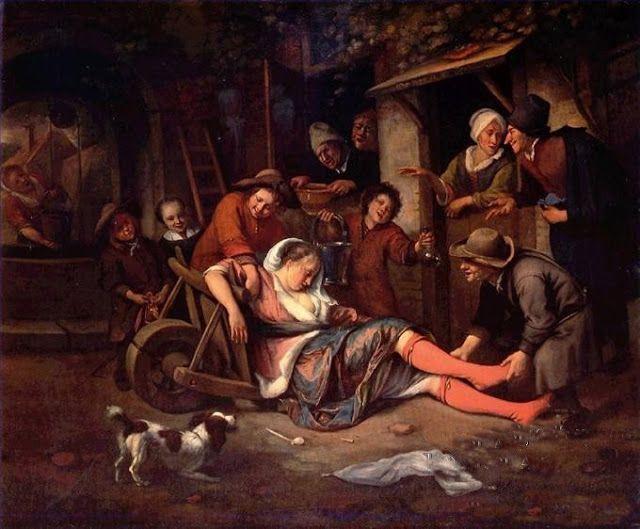 jan steen   ... Mocker, 1668, Jan Steen--no doubt a scene Steen had seen many times
