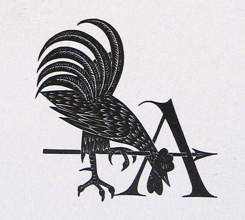 Arthur Eric Rowton Gill (1882-1940, UK) - Golden Cockerel