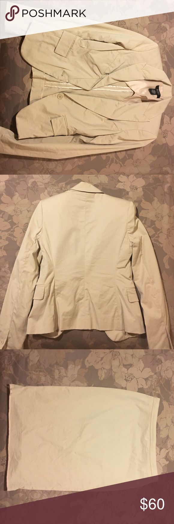 Women's Skirt Suit Only worn once, Body By Victoria Skirt suit.... The skirt is a pencil skirt and the jacket is a one button jacket... Victoria's Secret Skirts Pencil