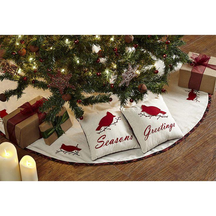 Seasons Greetings Christmas Tree Skirt 48