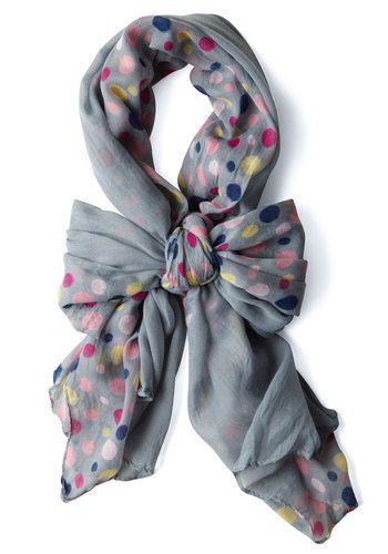 pastel planets scarf via modcloth
