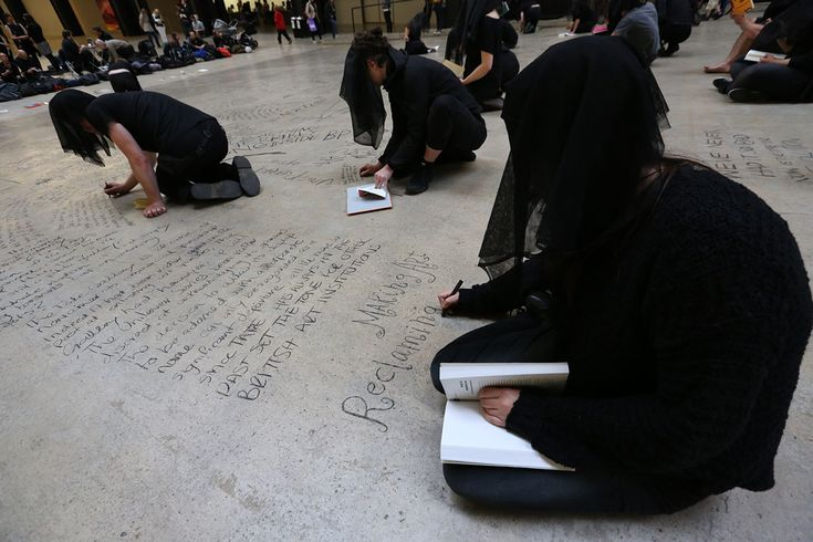 Liberate Tate Annotates Tate Modern's Turbine Hall in 25-Hour Guerrilla Protest
