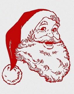 Retro - Free Printables- Santa//I love this Santa!