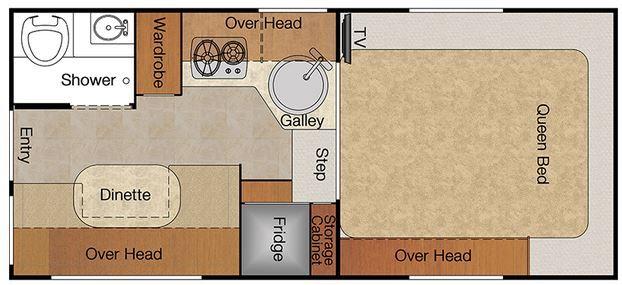 2015 Lance Camper 865 model floor plan
