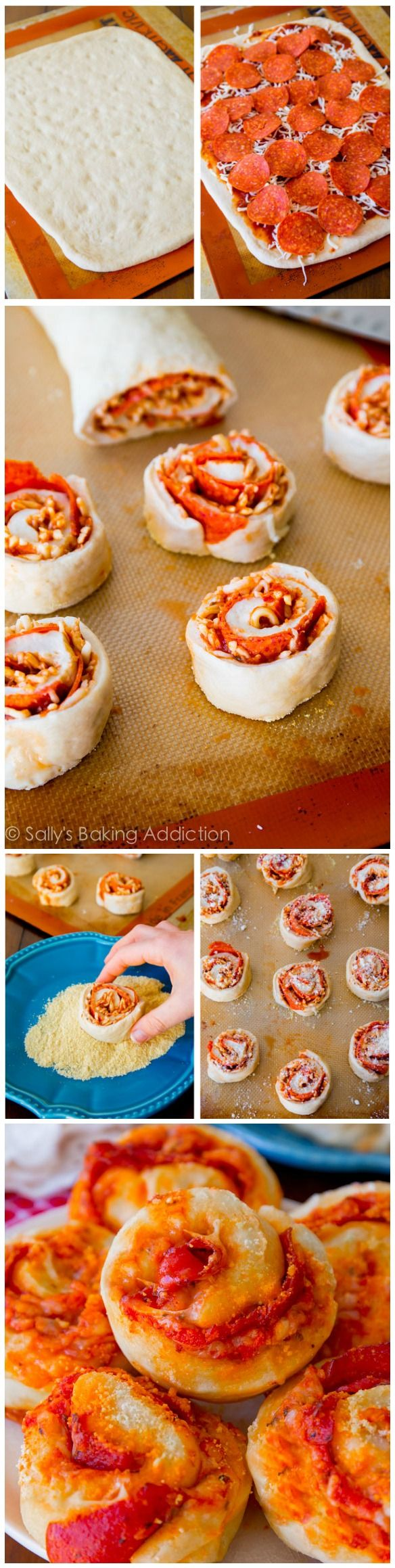 Homemade Pepperoni Pizza Rolls. Such a fun, easy way to enjoy pizza! Theyre always a hit.
