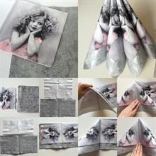 Hvordan brette servietter? Lage pynt til dåpen selv. DIY - dobbelt storseil - tips og ideer til dåp.