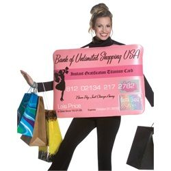 Miss Charg'it Credit Card Halloween Costume Adult - One Size Fits Most #3681