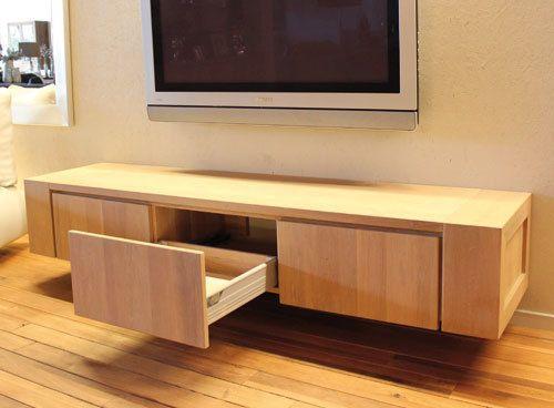 Eiken hangend tv-meubel Jorn