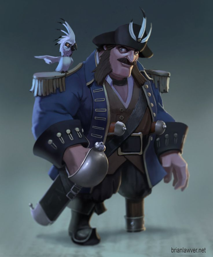 Captain 3 Feathers!, Brian Lawver on ArtStation at https://www.artstation.com/artwork/captain-3-feathers