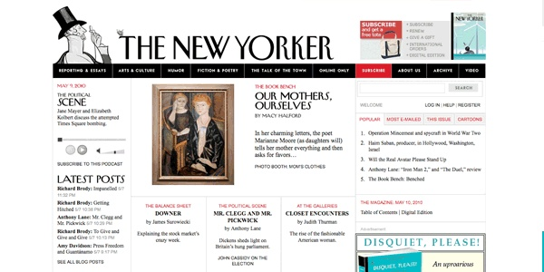 The New Yorker:  Internet Site,  Website, Web Site