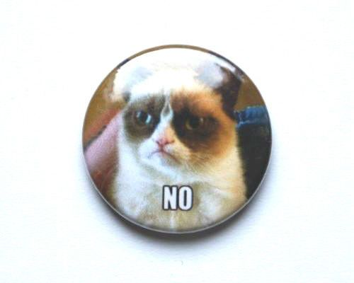 Grumpy Cat 25 mm Button Badge www internet meme 4chan kitten