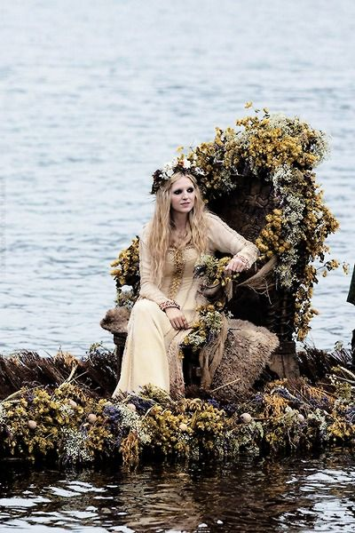 Floki's wife. I loved watching the whole Viking wedding scene on the beach.