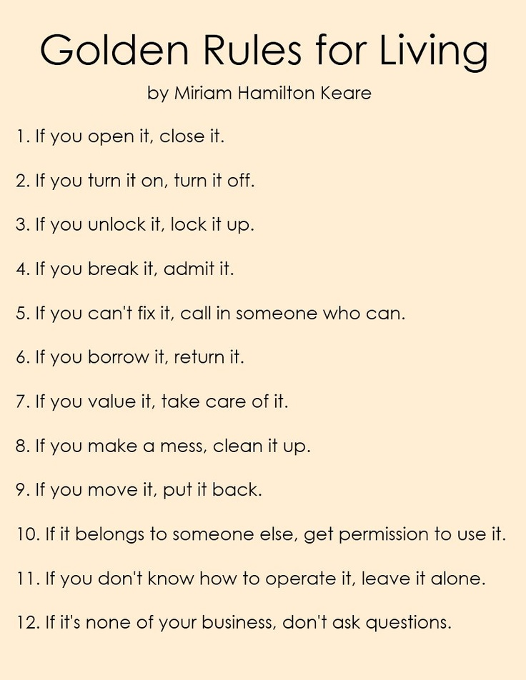 Golden Rules for Living by Miriam Hamilton Keare. This ...