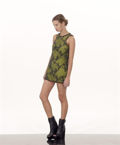 Shakuhachi Embroidered Shift Dress Black & Citrus $289  http://www.girlswithgems.com.au/designers/shakuhachi/shakuhachi-embroidered-shift-dress-black-citrus