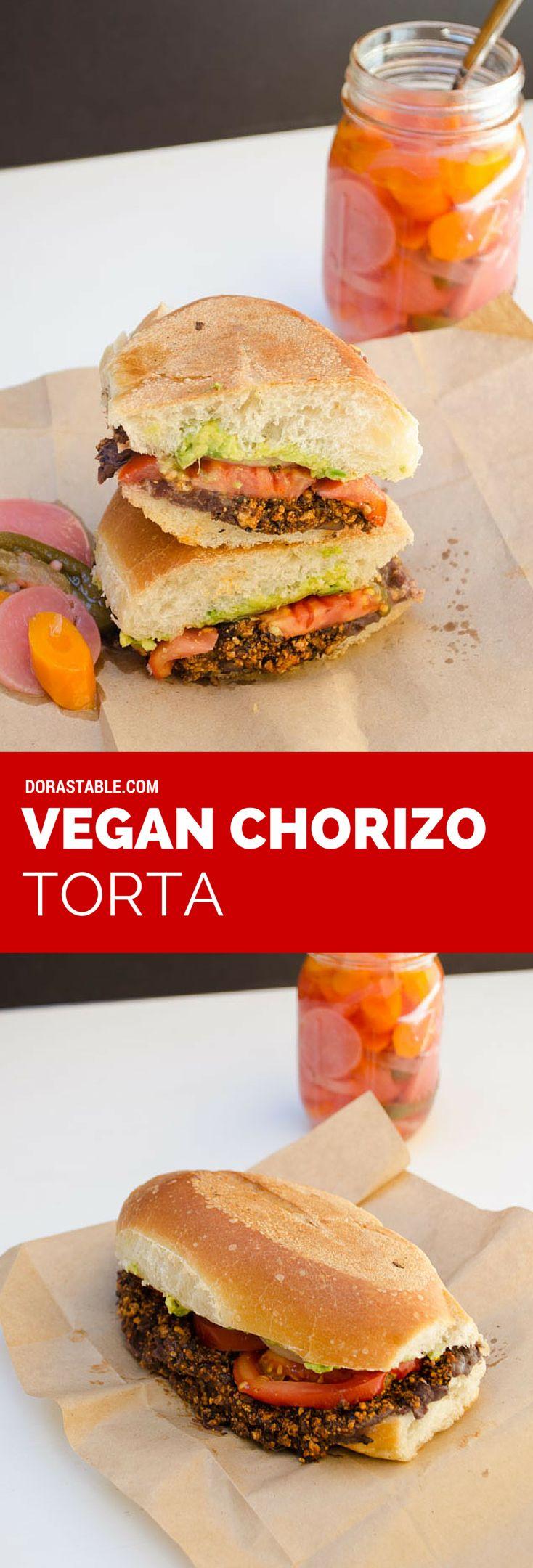 Vegan chorizo torta, spicy, creamy, crispy and easy to make #veganmexican
