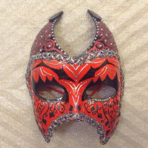 "Venetian costume female devil mask , handmade, wearable, wall decoration, in black red n silver ""Red Venetian She Devil mask"", masquerade by EthnicDrops on Etsy https://www.etsy.com/listing/270298426/venetian-costume-female-devil-mask"