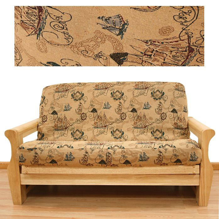 New World Futon Coveris Delightful Novelty Pattern In A Great Color Scheme