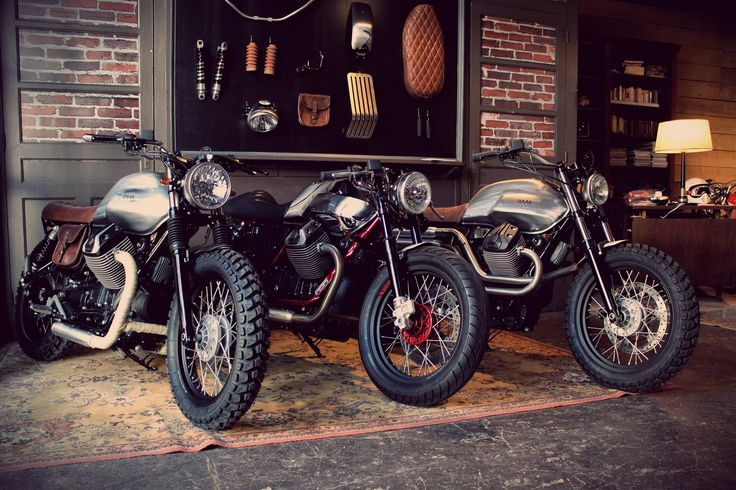 Tracker, Cafe Racer, Scrambler... Which one will you go for ? #MotoGuzzi