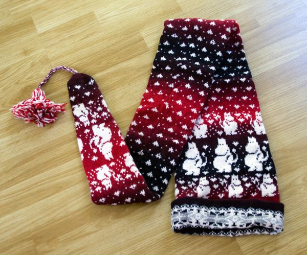2 in 1 - moomins hat and scarf :)