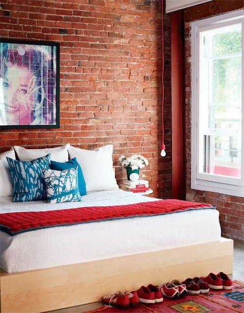 Galleria foto - Parete in mattone in camera da letto Foto 56