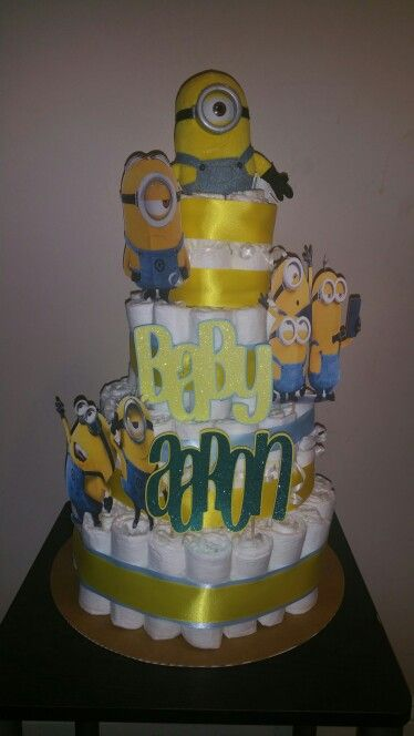 minion baby shower nappy cakes despicable me shower gifts minions baby