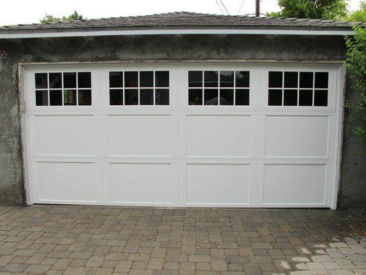 White garage door from Wayne Dalton garage doors. www.wayne-dalton.com