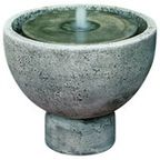 Girona Garden Water Fountain, Aged Limestone - Traditional - Outdoor Fountains And Ponds - by Soothing Company