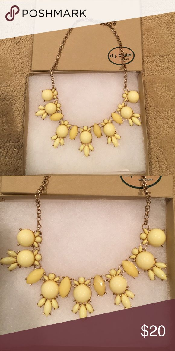 LAST CHANCE Yellow statement necklace Yellow statement necklace from a local Boutique. Brand new in box, never worn. Perfect for summer! Will ship the same or next day. Jewelry Necklaces
