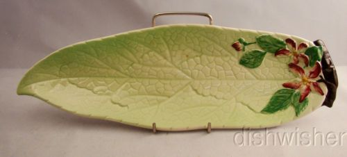 "Vintage Carlton Ware Apple Blossom Green Leaf Dish ""C"" 14"" 3175 Circa 1969   eBay"