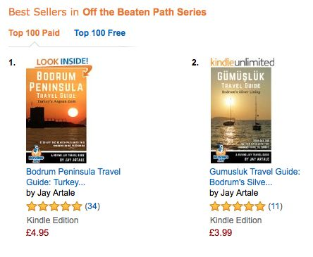 My Bodrum Peninsula Travel Guide and Gumusluk Travel Guide are #1 and #2 Best Sellers in Off the Beaten Path Series. Brand new cover designs too. Turkey.