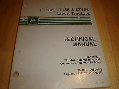 Manuals and Guides 42229: John Deere Lt133,Lt155,Lt166 Manual -> BUY IT NOW ONLY: $80 on eBay!